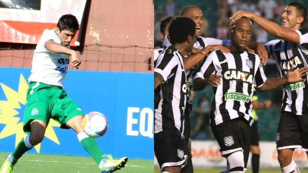 Chapecoense está em nono na tabela de classificação e o Figueirense, em quarto (Foto: Luiz Henrique/Figueirense FC/Diego Carvalho/Aguante/Chapecoense/Reprodução GloboEsporte.com)