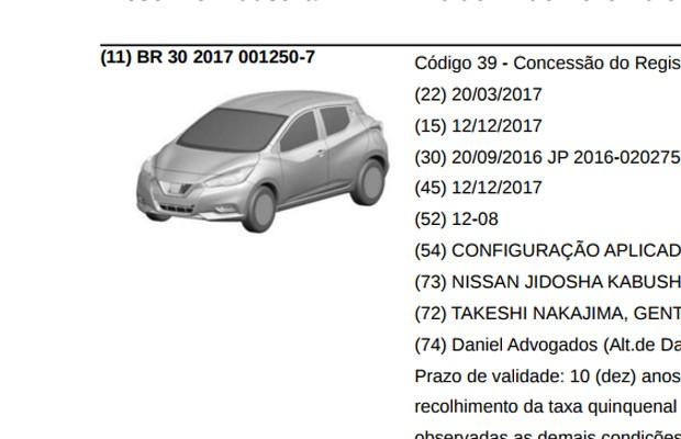 Nissan registra novo March no INPI (Foto: Divulgação)