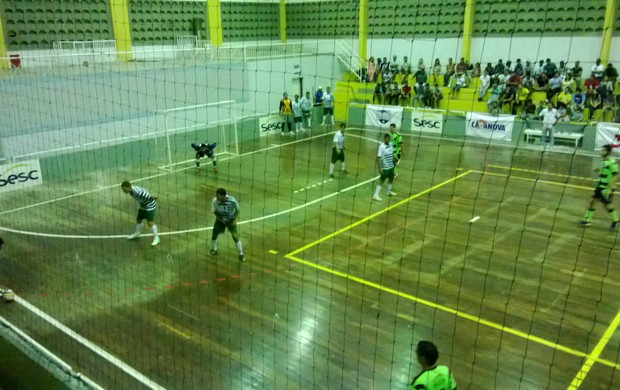 Ginásio do Sesc de Arcoverde também recebeu a Copa (Foto: Magno Wendel / TV Asa Branca)