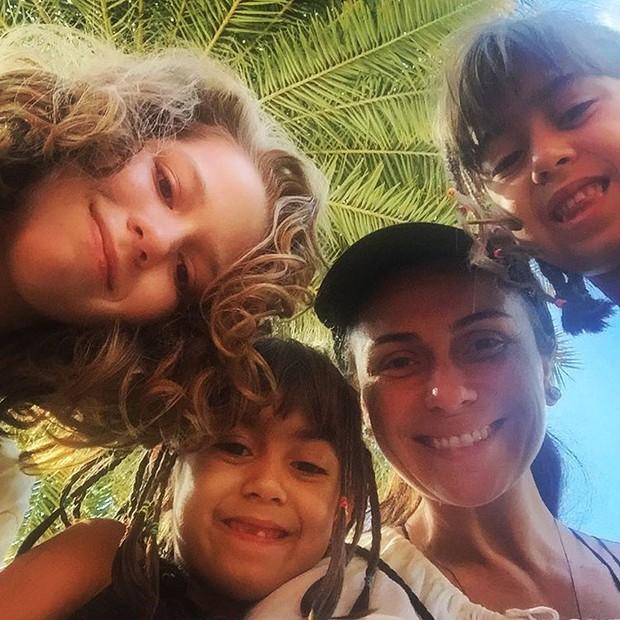 Giovanna Antonelli e os filhos (Foto: Reprodução / Instagram)