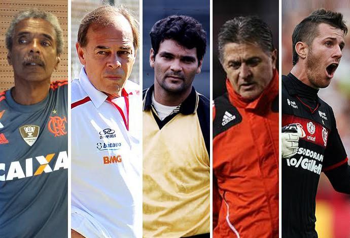 Carrossel Goleiros Flamengo (Foto: Editoria de Arte)