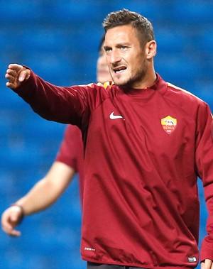 Totti, Treino da Roma (Foto: Reuters)