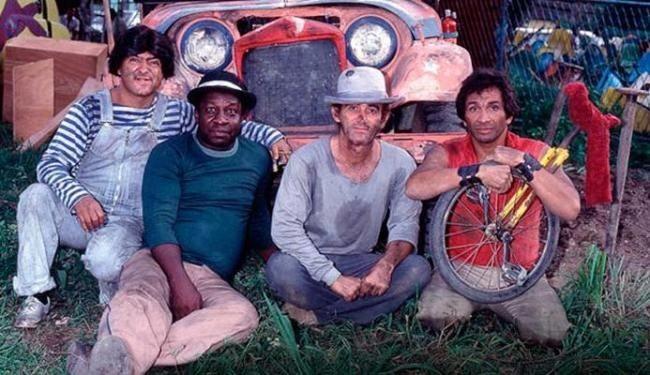 Zacarias, Mussum, Didi e Dedé em 'Os Saltimbancos Trapalhões' (Foto: Divulgação)