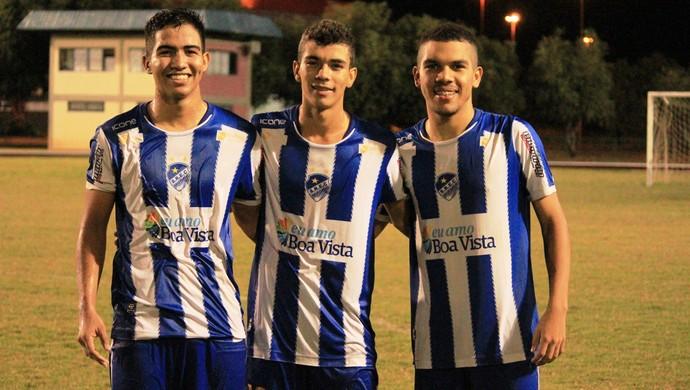 Matheus Tomaz, Lucas Sudário e Luan Souza: 15 gols em uma única foto (Foto: Ivonisio Júnior)