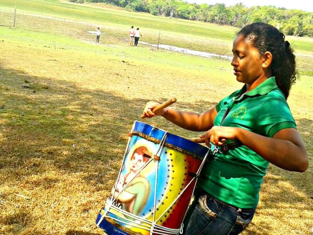 Bárbara Amoras desenvolveu projeto de pesquisa na comunidade do Curiaú (Foto: Bárbara Amoras/ Arquivo Pessoal)