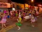 Escola de samba faz desfile com parceria (Reprodução/Tv Fronteira)