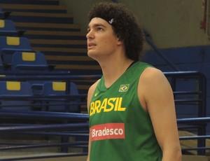 Anderson Varejão seleção brasileira basquete (Foto: David Abramvezt)