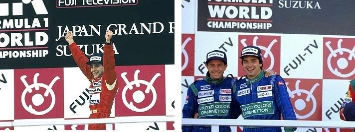 Piquet - Moreno - Senna Suzuka