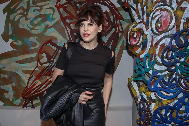 Bárbara Paz na estreia da peça Os realistas (Foto: Raphael Castello/Agnews)