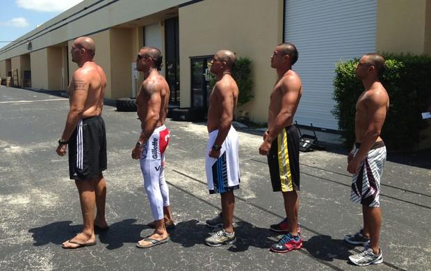 MMA Glaube Feitosa, Vitor Belfort, Gilbert Durinho, Andrews Nakahara e Junior Girafinha (Foto: Arquivo Pessoal)