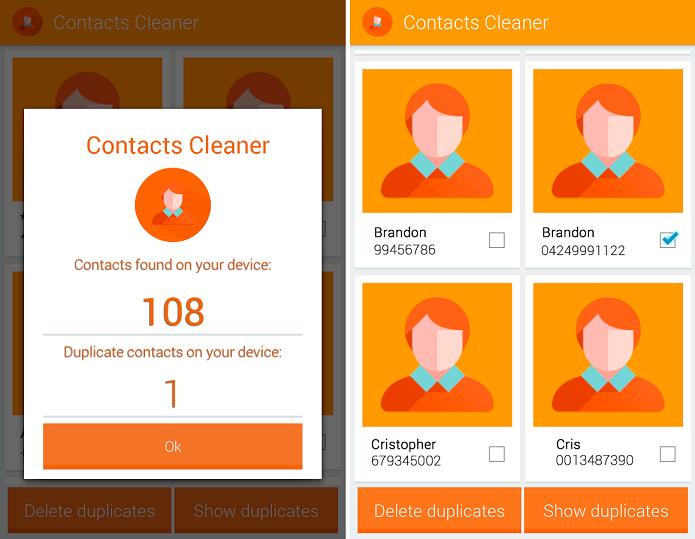 Contacts Cleaner é um aplicativo para limpar e organizar apps no Android (Foto: Divulgação/Contacts Cleaner)