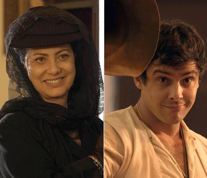 Anastácia vê Candinho pela primeira vez desde que foram separados (Foto: TV Globo)