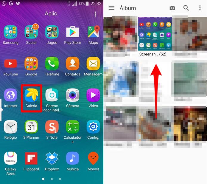 Abra a galeria de imagens do Galaxy Note 4 (Foto: Reprodução/Lucas Mendes)