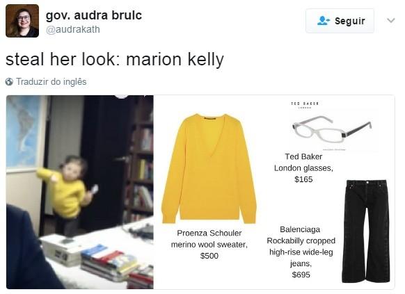 Roube o look dela: Marion Kelly (Foto: Reprodução Twitter)