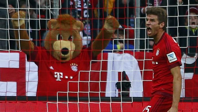 Muller - Bayern de Munique x Borussia Dortmund (Foto: Reuters)