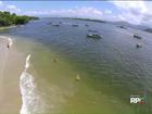 Passeio de barco é opção de lazer para as famílias no litoral do Paraná