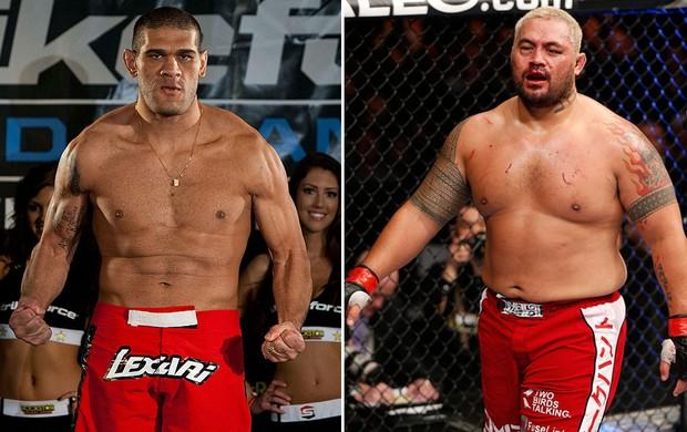 Montagem UFC Mark Hunt e Antônio Pezão (Foto: Editoria de Arte)