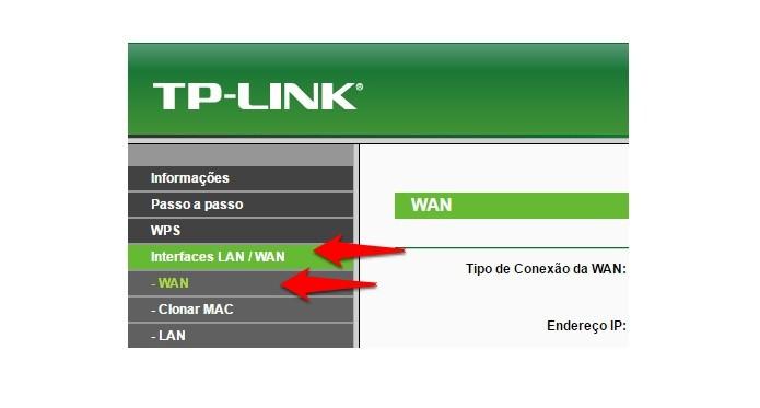 Acesse as configurações WAN (Foto: Reprodução/Gabriel Ribeiro)