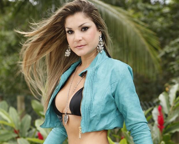 Letícia Weiss (Foto: Domingão do Faustão / TV Globo)