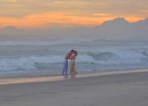 O cenário não poderia ser mais perfeito (Foto: Guerra dos Sexos / TV Globo)