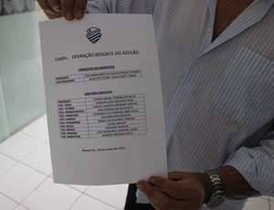 Primeira chapa inscrita conta com cinco ex-presidentes do CSA (Foto: Caio Lorena / GloboEsporte.com)