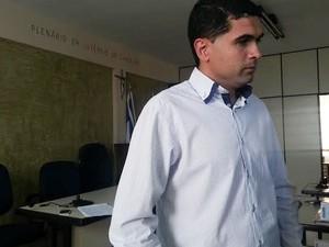Presidente da Câmara de Carmo da Mata (Foto: Anna Lúcia Silva/ G1)
