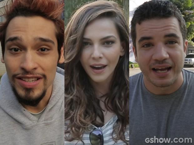 Bruno, Taíná e Thiago já mandaram suas respostas (Foto: Geração Brasil/TV Globo)