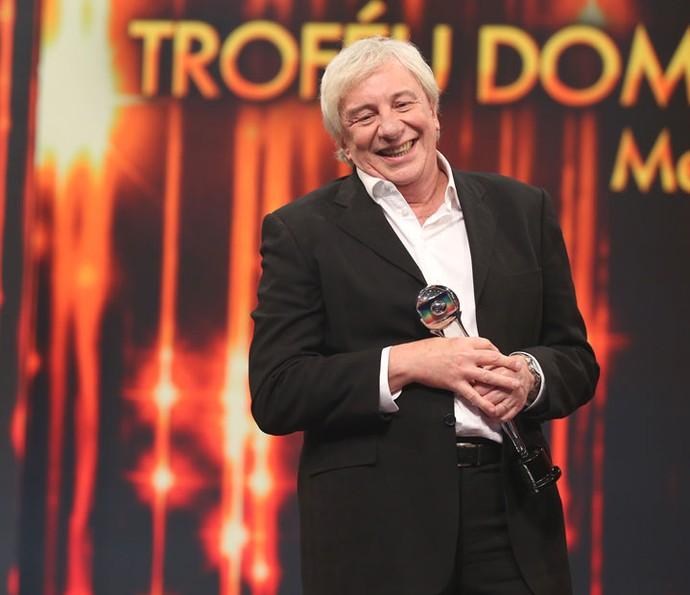 Marco Nanini foi premiado pelo personagem Professor Pancrácio (Foto: Carol Caminha / Gshow)