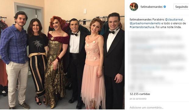 Post de Fátima Bernardes ao lado de Túlio Gadêlha (Foto: Reprodução/Instagram)