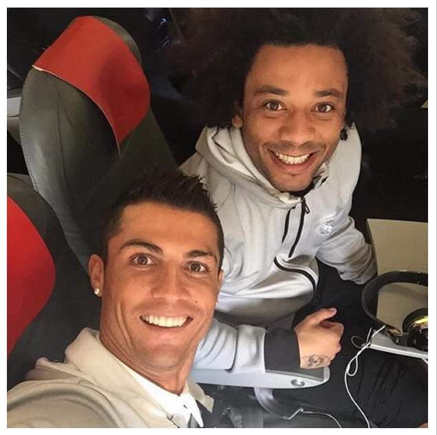 Cristiano Ronaldo e Marcelo