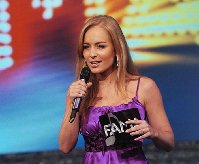 E em 2002, na apresentação do 'Fama' (Foto: Globo/João Miguel Júnior)