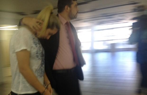 Bruna Cristine Menezes de Castro está presa em Goiânia, Goiás (Foto: Vanessa Martins/ G1)
