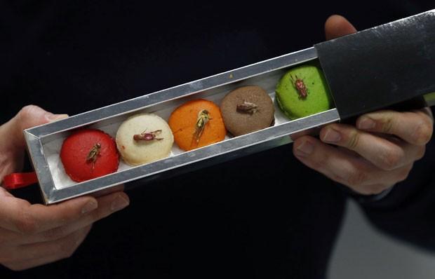 Macarons, doce que é popular na França, é oferecido por empresa do país com insetos (Foto: Regis Duvignau/Reuters)