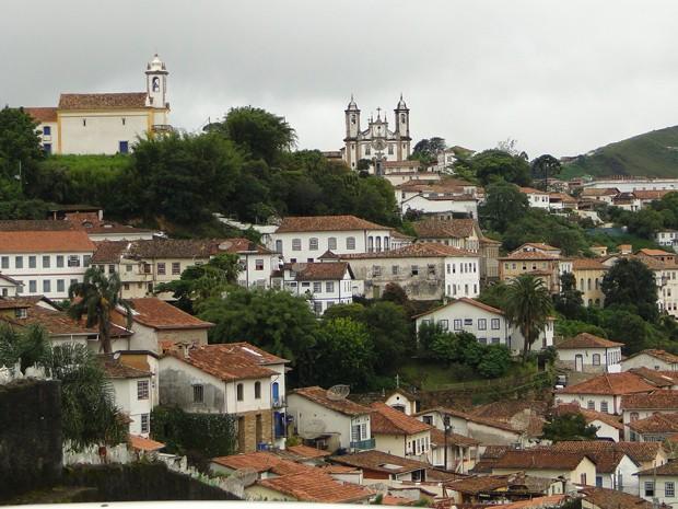 Cidade de Ouro Preto onde dois universitários morreram depois de ingerir bebida alcoólica (Foto: Alex Araújo / G1)