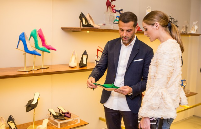 Schutz e Alexandre Birman inauguram showroom em NY (Foto: Patrick MacLeod)