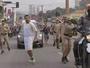Homem tenta apagar fogo olímpico com refrigerante em Jundiaí; vídeo