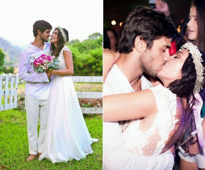Felipe e Mariana: casamento dos sonhos (Foto: TV Globo)