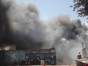 Incêndio em Macaé (Foto: Luiz Carlos Tavares/ Arquivo Pessoal)