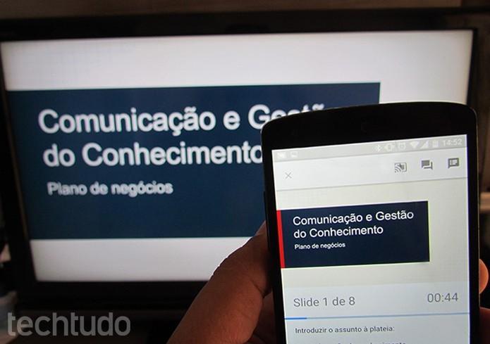 Apresente slides na TV com Chromecast (Foto: Paulo Alves/TechTudo )
