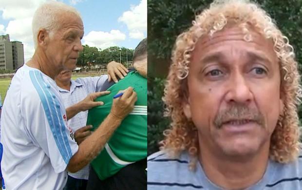 Ademir da Guia e Biro Biro (Foto: Montagem / GloboEsporte.com)