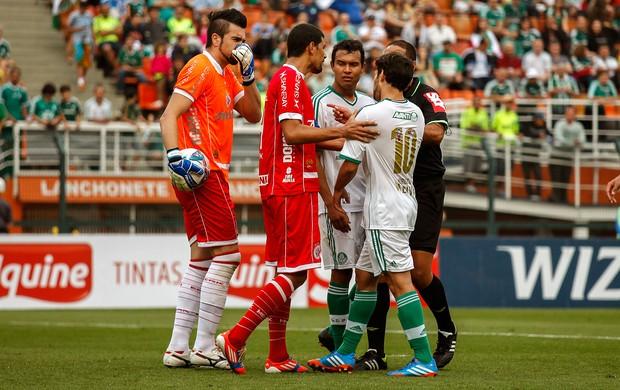 Andrey e Valdivia jogo Palmeiras e América-RN (Foto: Ale Frata / Agência Estado)