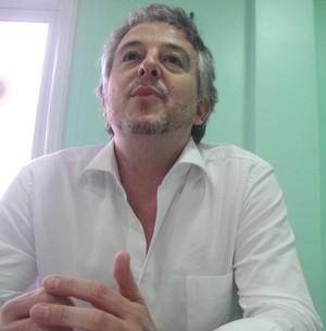 Paulo Nobre, presidente do Palmeiras (Foto: Alexandre Lozetti)