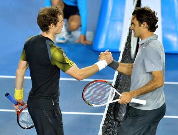 tênis andy murray roger federer aberto da austrália (Foto: AFP)