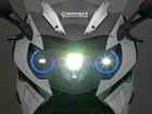 BMW apresenta conceito de moto com laser e capacete que é tela
