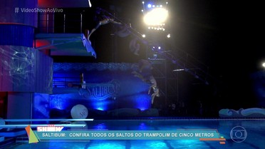 Veja os saltos da plataforma de 5 metros do Saltibum, em câmera lenta