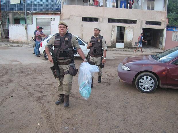 Operação em Itinga (Foto: Sérgio Cavalcante/PM)