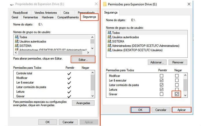 Altere as opções para negar novas gravações no HD Externo (Foto: Reprodução/Barbara Mannara)