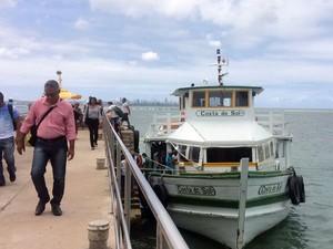 Travessia Salvador - Mar Grande faz nova parada nesta sexta-feira (Foto: Rafael Teles/G1)