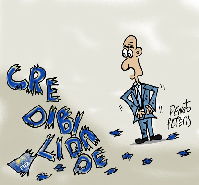 Juntando os cacos- Charge Peters