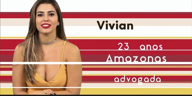 Vivian, nova participante do BBB 17 (Foto: Globo)
